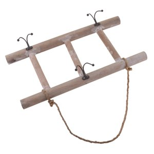 Wholesale rustic wall art decor for sale - Group buy Wood Ladder Wall Hanging Art Garden Yard Decor Hooks Organizer Rustic Decoration