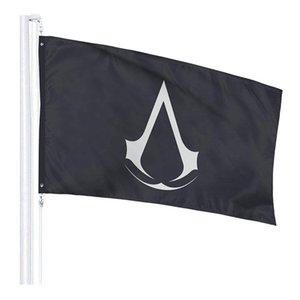 bandera de credo asesinos al por mayor-Classic Assassin Creed Video Game Series Bandera x5ft Impresión digital Poliéster al aire libre Indoor Utilice Club Printing Banner y banderas al por mayor