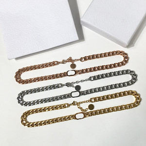 Hot Selling Fashion Trend Necklace Three Style Fashion Necklace Couple Punk Style Titanium Steel D Letter Chain Necklace