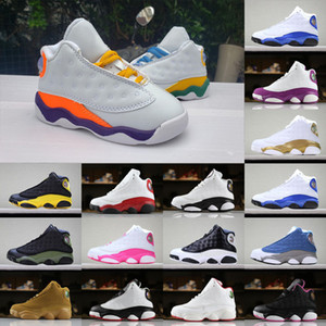 Wholesale playgrounds kids resale online - 13s Baby Toddlers Basketball Shoes GS Playground White orang Court Purple Orange Infant kids designer sports sneaker size
