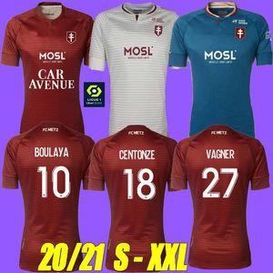 thailand 20 21 FC METZ SOCCER JERSEYS AWAY 2020 2021 BOULAYA DIALLO CENTONZE BRONN VAGNER NIANE FOFANA VAGNER HOME 3rd FOOTBALL SHIRT