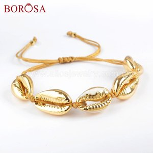 Wholesale natural sea shell jewelry for sale - Group buy Gold Color Natural Cowrie Shell Rope Bracelet for Womem Fashion Sea Shell Ankel Bracelets Jewelry Summer Beach Jewelry HD0002