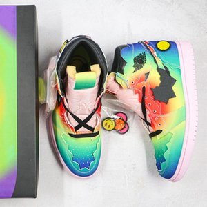 chaussures bol achat en gros de-news_sitemap_homeNouvelle arrivée J Balvin Smile Face Chaussures de basketball S Super Bowl Cravate Rainbow Teams Baskets Femmes Sports Sneakers Taille