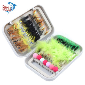 Wholesale fishing lures resale online - 80pcs dry fly fishing lure set with box artificial trout carp bass Butterfly Insect bait freshwater saltwater flyfishing lures
