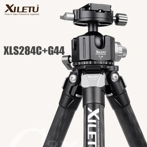 Wholesale video carbon fiber resale online - XILETU XLS C G44 Professional Carbon Fiber Stand Tripod Degree Panorama Ballhead For Digital Dslr Camera Video