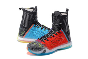 Wholesale wholes men shoes resale online - Zoom Mamba X High What The Men Basketball Shoes Top Quality Mamba Multi Color sports shoes With Box free delivery Size7