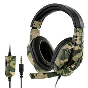 Wholesale wired video games resale online - 3 mm Camo Wired Gaming Headset Camouflage Over Ear Headphones with Microphone for Xbox One for Switch PC Video Games