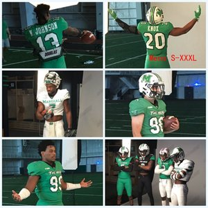 neue college - fußball-uniformen  großhandel-2020 Marshall Thundering Herd Green New Uniformen Nazeeh Johnson Joel Lambiotte Zach Switzer Jamare Edwards NCAA College Football Jersey