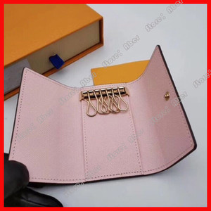 Wholesale keychain wallets for sale - Group buy Key Holder Key Chain Purse For Men Top Quality Multicolor Leather Short Wallet Lady Six Key Holder Women Men Classic Keychain