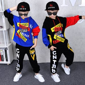 Wholesale boys tracksuit 12 for sale - Group buy Autumn Boy s Clothing suit pieces suit hooded Pants Sets big Boys Sportwear Sets Tracksuit Outwear hoodie Years X0923