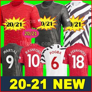 Manchester 2020 2021 united UTD jerseys BRUNO FERNANDES soccer jersey MARTIAL RASHFORD JAMES football shirts 20 21 man + kids kit equipment