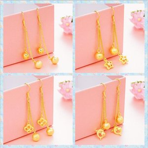 Wholesale gold fish plant for sale - Group buy Vietnam Gold Earrings woman stars fish flower Dangle Chandelier Earrings style selection plating Gold Colorfast bride Tassel Earrings
