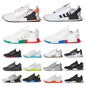 ingrosso scarpe da corsa uomo-NMD R2 V1 men s and women s running shoes multi color optional breathable low top outdoor jogging shoes sports shoes