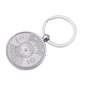 Wholesale calendars pvc resale online - Mini Keyring UND Years Keychain Unique Ring Special Metal Calendar Perpetual Sale Vsapd