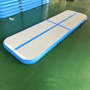 Wholesale gymnastics tumbling for sale - Group buy Fast Delivery Free Pump Inflatable Air Track Mat M M M Gymnastics Mat Taekwondo Track Home Use Air Floor Mattress Inflatable Tumbling