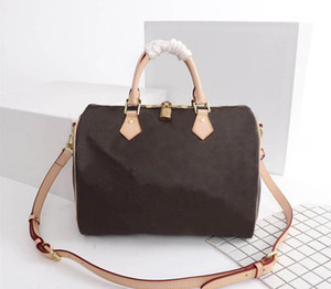 Wholesale new plaid handbag for sale - Group buy The New Women Leather Boston Bags Top Quality Fashion Inclined Shoulder Bag Pillow Mono Handbag Crossbody Bags M41113 cm cm cm