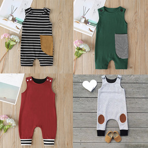 Baby Print Rompers 81 Designs Cactus Forest Dinosaur Unicorn Alpaca 4th July Stars Boy Girls Newborn Infant Kids Summer Clothes Jumpsuit