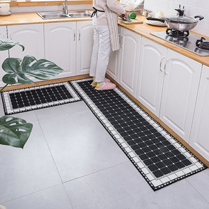 Wholesale size rugs for sale - Group buy Geometric Printed Kitchen Mat Carpet Enter Hallway Doormat Long Size Bedside Floor Carpets Non slip Water Absorption Kitchen Rug
