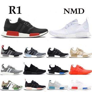 NMD R1 Bred japan triple black Glitch pack solid grey Camo running shoes men women runner trainers breathable sports sneakers