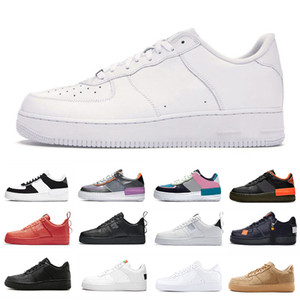 ingrosso scarpe da corsa-AF1 force shadow forces one dunk low platform scarpe uomo donna moda casual scarpa da corsa skateboard classic triple black white utility mens formatori sport designer sneakers
