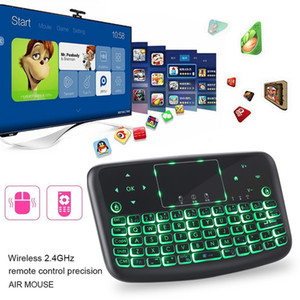 ingrosso tocco bluetooth senza fili del tocco-4 Colore Mini tastiera wireless tastiera Bluetooth Bluetooth Portable Mouse con tablet Telecomando Touchpad GHz per Android TV Box LJ200922