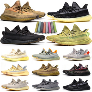 Wholesale mens desert shoes for sale - Group buy 2020 Kanye West Static Black Refective Running Shoes Israfil Cinder Desert Sage Earth Tail Light Zebra Womens Mens Trainers Sneakers Size
