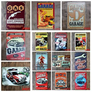 pinturas casas venda por atacado-20 centímetros de metal Pintura Sinais Garagem caverna retro do óleo de motor Poster Crafts Home Bar Decor Wall Art Pictures Vintage Paintings LJJP469