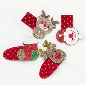 Wholesale hot santa girl resale online - Sequins Children s Cute Christmas Hairpin Elk Clip Santa Snowman Headdress Hair Clip Baby Kids Hairpin Girls Hair Pins Barrette Hot D9905