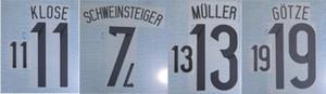 2014 Germany home KLOSE MULLER GOTZE schweinsteiger nameset patch badge