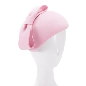 chapéus de lágrima venda por atacado-Lawliet Teardrop Womens do olhar do vintage de feltro de lã Detalhe Fascinator Hat Bow Tam Beret Casque Cocktail Hat A568