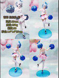 anime Cheerleader rem pink figure model PVC version new doll toy NO BOX