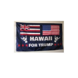 hawaii flagge großhandel-Hawaii für Trump Flags preiswerter Preis Poleyster Stoff National Advertising D Stoff Digital gedruckte freies Verschiffen