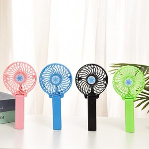 Wholesale fans desk for sale - Group buy Rechargeable Fan Air Cooler Mini Operated Hand Held mah Desk Pocket USB Portable Office Fan Party Favor DHF1744