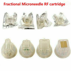 Disposable replacement 10 25 64 nano pin head gold cartridge fractional RF microneedle microneedling micro needle machine cartridges 4 tips