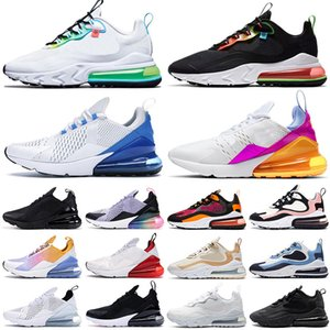 Wholesale running shoes mens resale online - 270 Mens Womens Sneakers Running Shoes triple white all black react Worldwide Bubble Pack Supernova UNC Sports Trainers outdoor fashion
