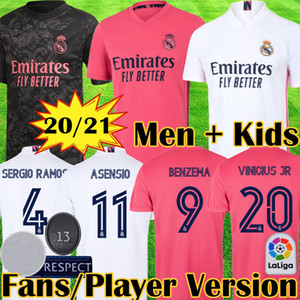 20 21 Player Version real Madrid soccer jerseys HAZARD VALVERDE RODRGO camiseta 2020 2021 VINICIUS ASENSIO football shirt kids equipment