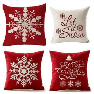 5 Styles 45*45cm Christmas Snowflake Pillow New Year Christmas Creative Sofa Pillow Case Office Pillows Pillow Case