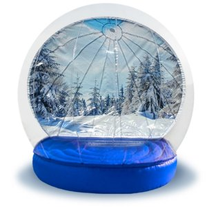 Wholesale snow backgrounds for sale - Group buy 3M Dia Christmas Yard Snow Globe On sale Customized Background Inflatable Snow Globe Photo Booth Inflatable Human Snow Globe Fatory Price