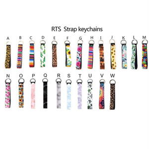 Wholesale cell phone holidays for sale - Group buy print design Neoprene Keychain of Phone Straps Lanyard With Wrist Strap Rope For Cell Phone Handbag Party Favor T2I51482