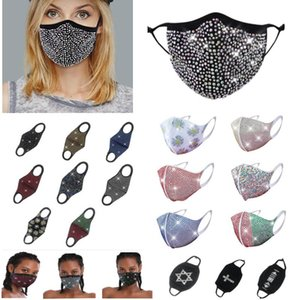 Wholesale holloween masks resale online - Crystal Face Mask Reusable Fashion Women Rhinestone Masquerade Bling Mask For Party Dancing Holloween Party Cosplays Pink Mask HH9