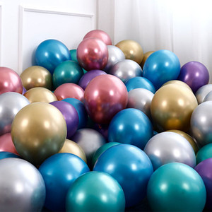 Wholesale metallic balloons for sale - Group buy inch Latex Balloons Metallic Color Balloons Birthday Wedding Party Decorations