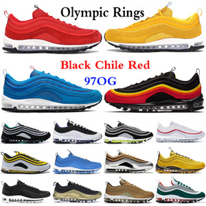 ingrosso anelli olimpici-97s Uomo Scarpe da corsa Balck Metallic Gold South Beach PRM Giallo Triple White s Designer Donna Sport Sneakers US