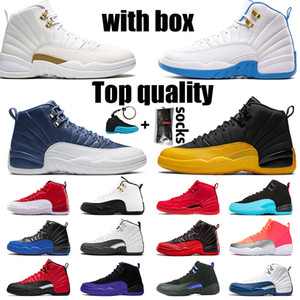 Wholesale gold bonded resale online - WITH BOX s TOP QUALITY Basketball Shoes Jumpman Womens Mens Sneakers Stone Blue University Gold OVO Trainers Size