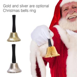 ingrosso jingle bells-Metallo Natale Hand Bell Ricevimento Dinner Party Decor Jingle Bells Christmas Tree decorazioni per la casa Accessori Mestieri