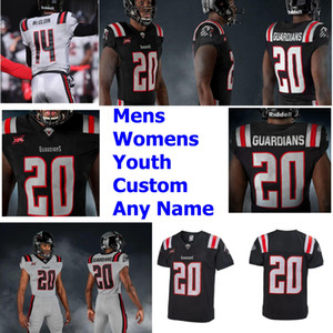 Wholesale dalton jersey resale online - 2020 Guardians Jerseys Andrew Verboys Jersey DeAngelo Yancey Dalton Ponchillia Ryan Mueller Keenen Brown XFL Football Jerseys Custom Stitche