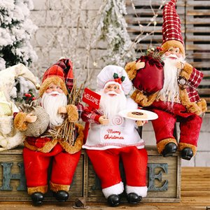 Wholesale santa claus for sale - Group buy 2020 New Christmas Decorations Standing Posture Santa Claus Doll Ornaments New Santa Claus Decorations Dolls Ornaments Europe And America