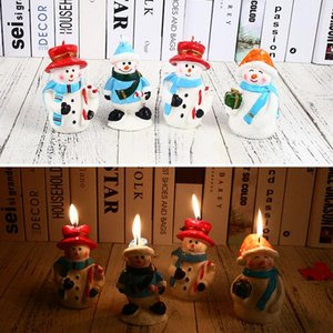 Wholesale santa snowman candles for sale - Group buy Candles Paraffin Xmas Christmas Snowman Bougie Beautiful Home Decorations Decor Lovely Party Gift Candle Kitchen Santa Claus