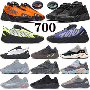 700 V2 Running shoes Orange Reflective Triple Black Phosphor Bone kanye west static carbon blue OG Solid Grey mens women Sneaker trainers