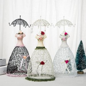 Wholesale doll stand holder resale online - Jewelry Tree Doll Earring Holder Jewelry Organizer Stand Display