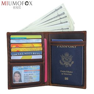 Wholesale leather document passport holder resale online - Women Leather Passport Purse Driver License For Travel Document Cover Ticket Wallet Men Holder Case Bag Genuine Cmhlx